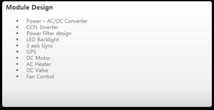 ODM services module design