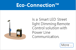 Eco-Connection LED Street light Dimming Control solution